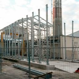 Costruzione di capannone removibile per alloggiamento Factory all'interno di una Centrale Nucleare (Struttura EN 1090-1)