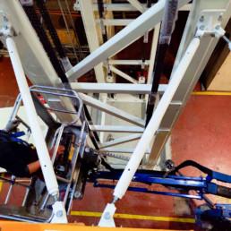 Costruzione e Montaggio in opera Impianto di sollevamento - sollevatore portata 5 ton