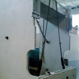 Charpenterie de grande taille – Base de la presse plieuse