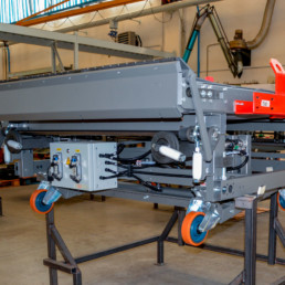 Macchina completa per il trasporto di solidi con nastro trasportatore - Collaudo impianti - Impianto elettrico