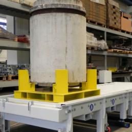 Rulliera per Movimentazione Fusti - Settore Nucleare